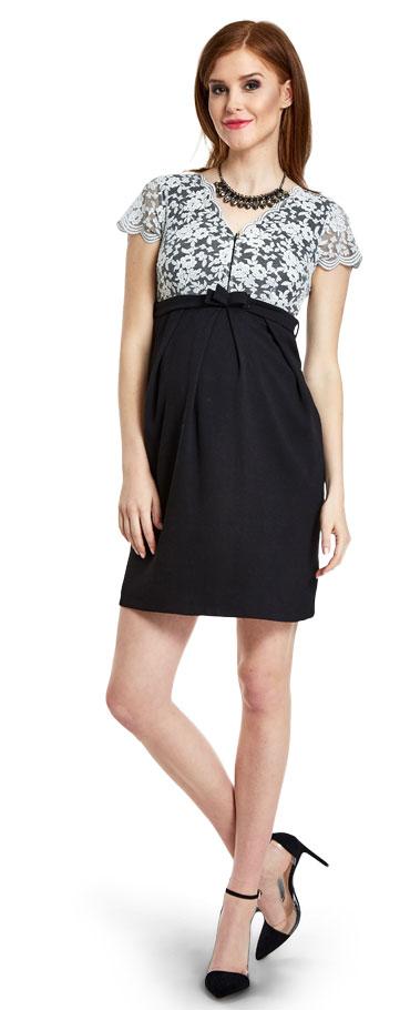 Spoločenské šaty pre tehotné Senza - Happymum veľ.M  c938b84eba2