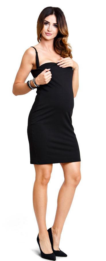 3808da724e55 Tehotenské šaty Basic black - Happymum