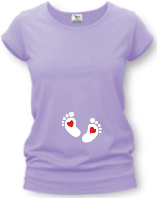 508ba19ec4 Tehotenské tričko s potlačou - Nožičky - VIAC FARIEB