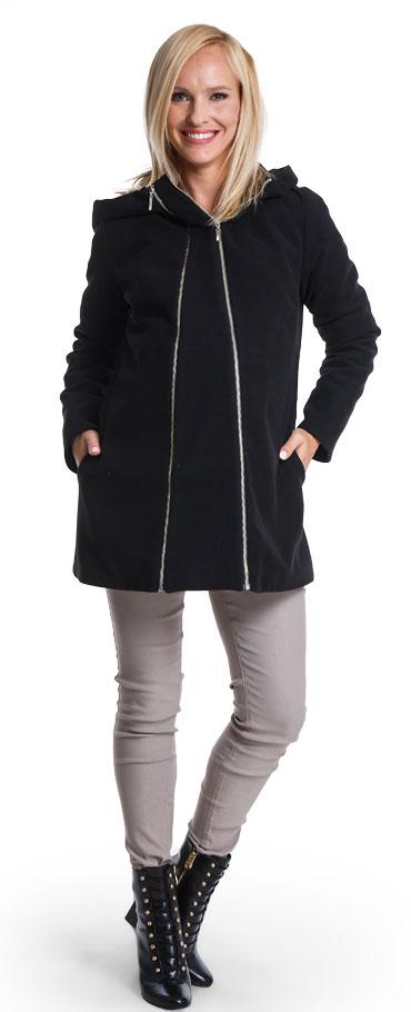 Tehotenský kabát Casmiro black - Happymum  a6f2e14eec7