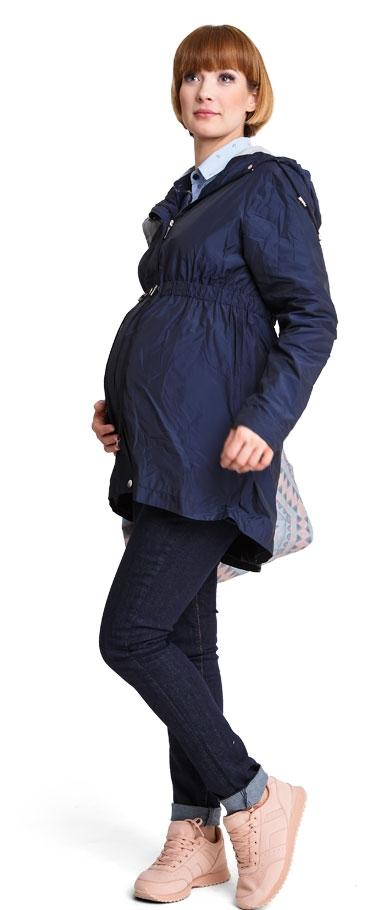 Tehotenský kabát Parka navy - Happymum  01fea3b0222