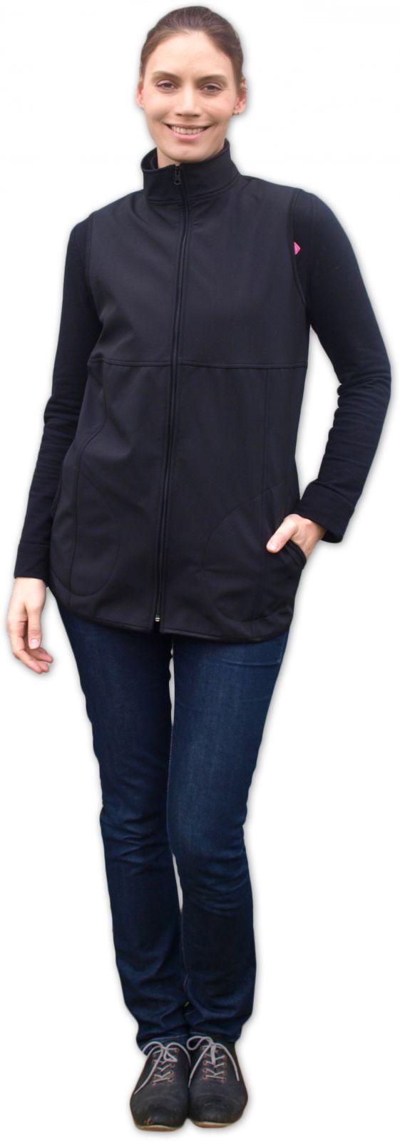 a1800615033a Softshellová vesta pre tehotné a na nosenie detí čierna