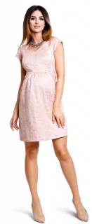 c3683731972b Tehotenské šaty Woodrose pudre - Happymum veľ.